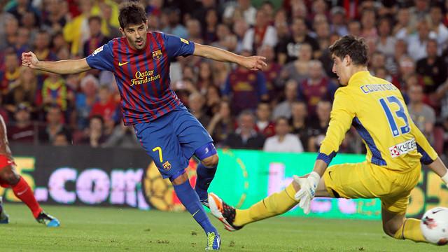 David Villa, contra l'Atlètic de Madrid / FOTO: ARXIU FCB