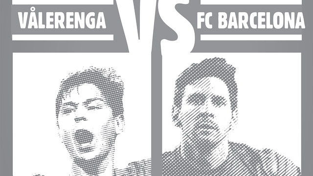 Messi featured on the poster for the friendly against Valerenga