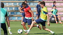 Alexis, a l'entrenament d'aquest dijous. FOTO: MIGUEL RUIZ-FCB.