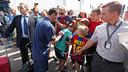 Messi, a l'arribada de l'equip a Oslo / FOTO: MIGUEL RUIZ - FCB