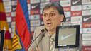 Martino, durant la roda de premsa de presentació / FOTO: VÍCTOR SALGADO-FCB