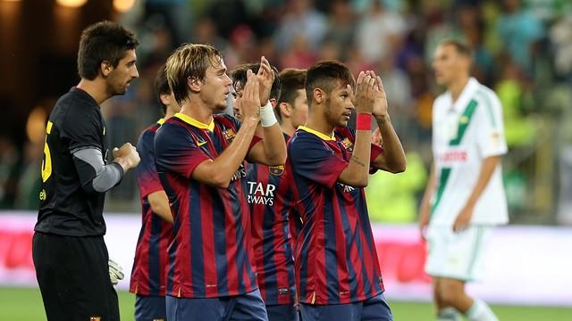 Debut de Neymar. FOTO: MIGUEL RUIZ-FCB.