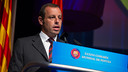 Sandro Rosell, speaking at the World Congress of Supporters Clubs. PHOTO: GERMÁN PARGA-FCB.