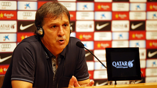 Tata Martino. PHOTO: MIGUEL RUIZ-FCB.