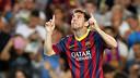 Leo Messi in an archive photo/ PHOTO: Arxiu FCB