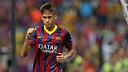 Neymar scores a gem of goal in Malaysia. PHOTO: MIGUEL RUIZ-FCB.