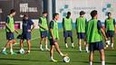 Pedro, at training on Tuesday. PHOTO: MIGUEL RUIZ-FCB.