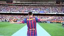 Neymar, on the day of his presentation. PHOTO: MIGUEL RUIZ-FCB.