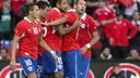 Alexis against Iraq. PHOTO: FIFA.COM