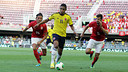 Action from the game between Colombia and Serbia. PHOTO: MIGUEL RUIZ - FCB