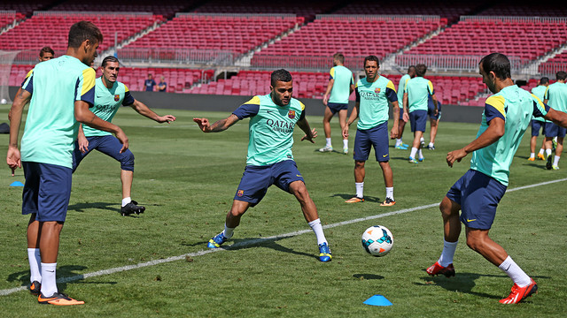A moment in training at the Camp Nou / PHOTO: MIGUEL RUIZ - FCB