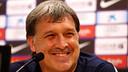 Tata Martino during today's press conference  / PHOTO: MIGUEL RUIZ-FCB