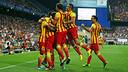 Barça celebrate Neymar's goal / Photo: MIGUEL RUIZ - FCB