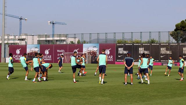 The team trained on Saturday morning in the Ciutat Esportiva / PHOTO: MIGUEL RUIZ - FCB