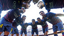 The players psych themselves up before Levante game / PHOTO: MIGUEL RUIZ - FCB