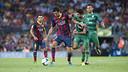 Busquets, during the league game against Levante at the Camp Nou. / PHOTO: VÍCTOR SALGADO-FCB