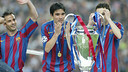 Deco won the Champions League in 2006 with FC Barcelona / PHOTO: ARXIU FCB
