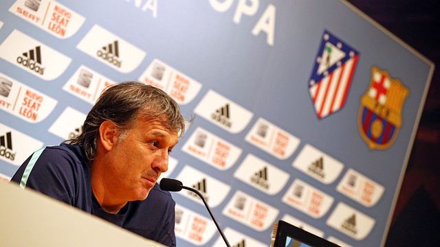 Martino during today's press conference / PHOTO: MIGUEL RUIZ - FCB