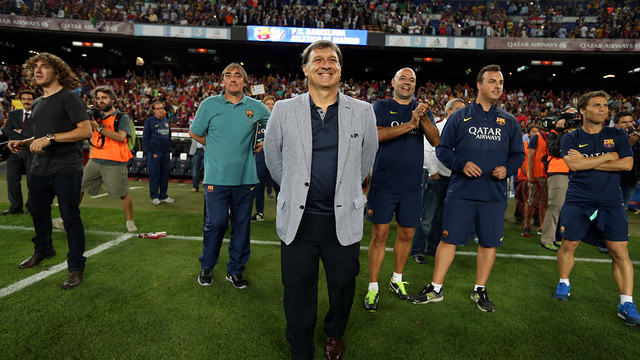 Tata Martino pleased with Barça's Super Cup win / PHOTO: MIGUEL RUIZ - FCB