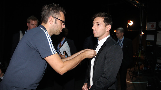 Messi before the Champions League draw in Monaco / PHOTO: MIGUEL RUIZ - FCB