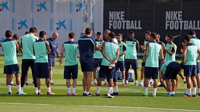 تصاویر جلسه تمرین بارسا قبل از بازی با والنسیا
