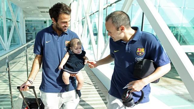 Cesc and Iniesta. Trip to Valencia PHOTO: MIGUEL RUIZ
