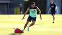 Sergio Busquets durant un entrenament d'aquesta temporada / FOTO: ARXIU FCB