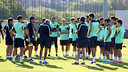 The first team players trained with members of Barça B / PHOTO: MIGUEL RUIZ - FCB
