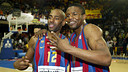 Ed Cota and Shammond Williams in the 2005/06 season / PHOTO: Archive FCB