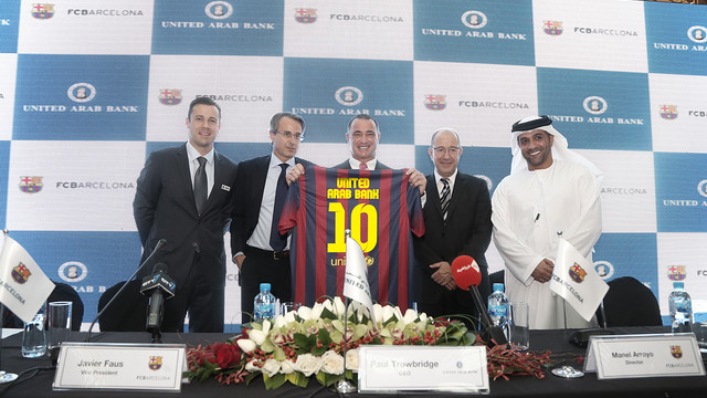 The announcement was made at a glittering event hosted by FC Barcelona and United Arab Bank, at Mirdiff City Centre