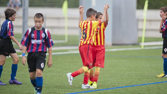 L'Aleví D està preparant l'inici de Lliga / FOTO: VÍCTOR SALGADO - FCB