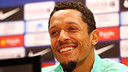 Adriano at the press conference. PHOTO: MIGUEL RUIZ - FCB