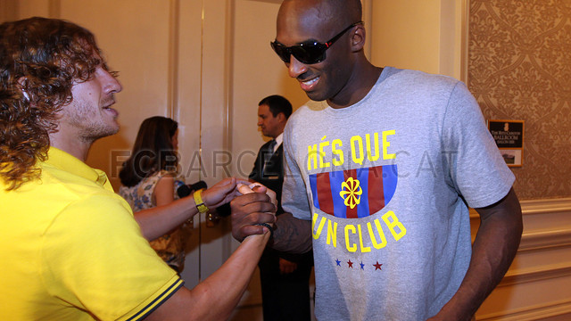 NBA stars and FC Barcelona