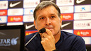 Tata Martino has discussed various issues ahead of the match with Sevilla / PHOTO: MIGUEL RUIZ - FCB
