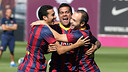 Pedro, Alves and Iniesta / PHOTO: MIGUEL RUIZ - FCB