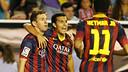 Messi i Pedro, a Vallecas / FOTO: MIGUEL RUIZ - FCB