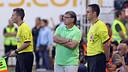 Martino, durant el partit a Vallecas. FOTO: MIGUEL RUIZ - FCB