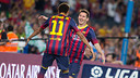 Messi and Neymar against Real Sociedad / PHOTO: GERMÁN PARGA - FCB