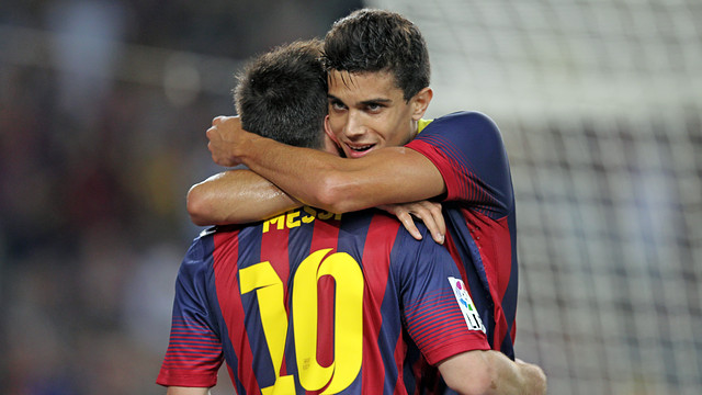 Bartra and Messi / PHOTO: MIGUEL RUIZ - FCB