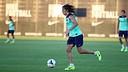 Puyol, durant l'entrenament / FOTO: MIGUEL RUIZ-FCB