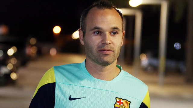 Andrés Iniesta speaking to the press / PHOTO: MIGUEL RUIZ-FCB