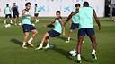 Cesc training on Friday / PHOTO: MIGUEL RUIZ-FCB