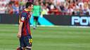 Messi abandona el terreny de joc lesionat / FOTO: MIGUEL RUIZ - FCB