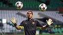 Pinto, a Celtic Park / FOTO: MIGUEL RUIZ-FCB