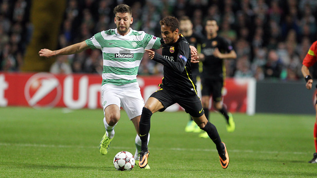 Neymar Jr during the match at Celtic Park