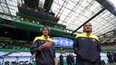 Neymar i Dos Santos, a Celtic Park / FOTO: MIGUEL RUIZ - FCB