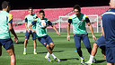 L'entrenament d'aquest dissabte al Camp Nou. FOTO: GERMÁN PARGA-FCB.