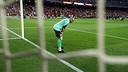 Víctor Valdés, abans del partit contra el Valladolid / FOTO: MIGUEL RUIZ - FCB