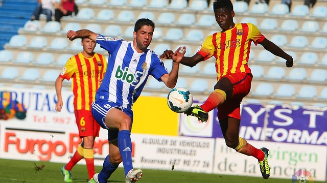 Bagnack in action against Ponferradina on sunday