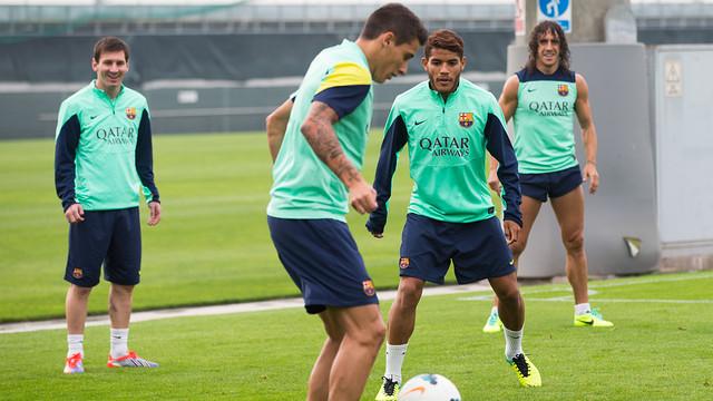 This Tuesday's training session. PHOTO: GERMAN PARGA-FCB.